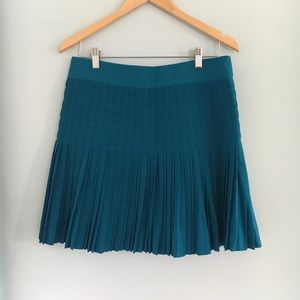 J. Crew Factory pleated mini skirt in teal